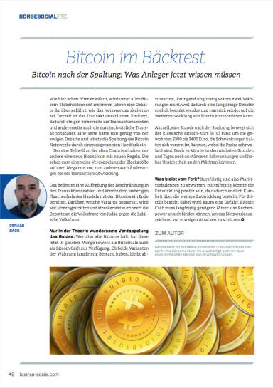 Bitcoin im Bäcktest - Börse Social Magazine #07