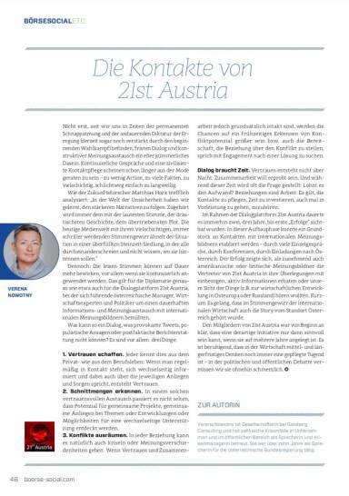 Die Kontakte von 21st Austria - Börse Social Magazine #7