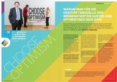 Choose Optimism - Warum man für die Geschäftsmodelle der börsenotierten Austro-AGs optimistisch sein darf - Börse Social Magazine #09