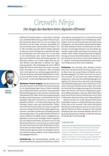 Growth Ninja - Die Angst des Bankers beim digitalen Elfmeter - Börse Social Magazine #09