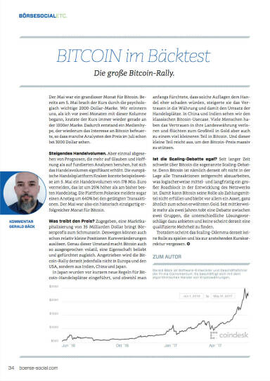 Bitcoin im Bäcktest - Die große Bitcoin-Rally - Börse Social Magazine #05