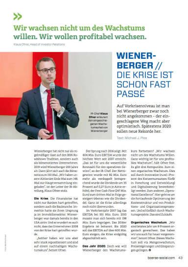 Wienerberger - Die Krise ist schon fast passé - Börse Social Magazine #05