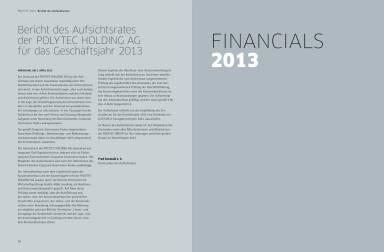 Polytec Geschäftsbericht 2013 - Financials 2013
